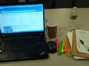 I wouldn't be able to survive without Westlaw, coffee, and highlighters...